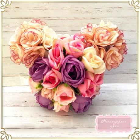 Мики Маус - фигура от текстилни цветя