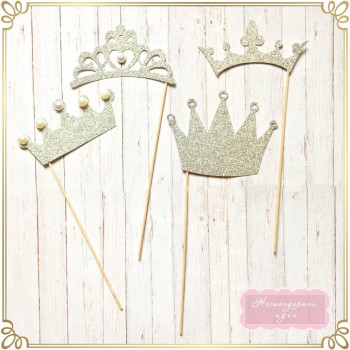Фото пропс - брокатена корона с перли