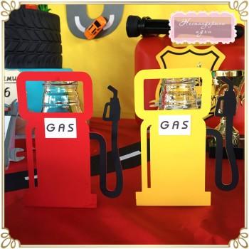 Етикет за шише - бензинова колонка
