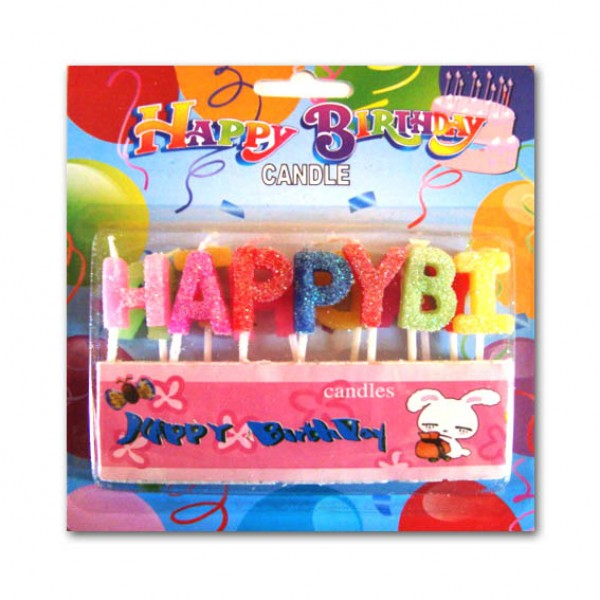 Свещи за рожден ден - букви