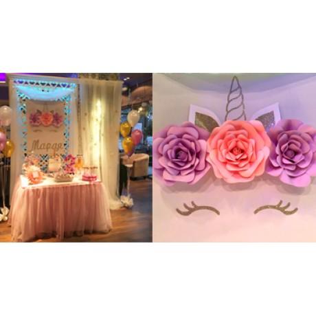 Еднорог - феерия в розово и лилаво
